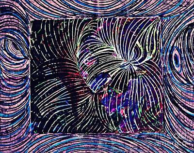 Mixed Media - Curved Lines 1 by Sarah Loft