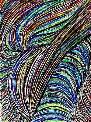 Drawing - Curved Lines 7 by Sarah Loft