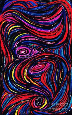 Painting - Curved Lines 9 by Sarah Loft