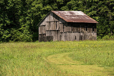 Photograph - Curved Path To The Barn by Douglas Barnett