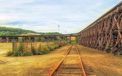 Photograph - Curved Railroad Bridge by Eclectic Art Photos