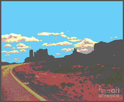 Digital Art - Curved Road To Moab by Ray Hunt