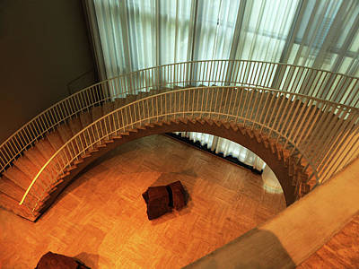Photograph - Curved Staircase by Alan Socolik