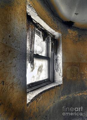 Curved Wall Window Art Print by Norman Andrus