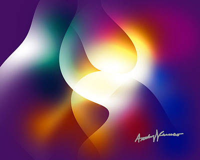 Red Abstract Digital Art - Curves And Light by Anthony Caruso