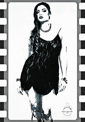 Digital Art - Curves Are Back by Absinthe Art By Michelle LeAnn Scott