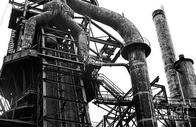 Photograph - Curves At Bethlehem Steel by John Rizzuto