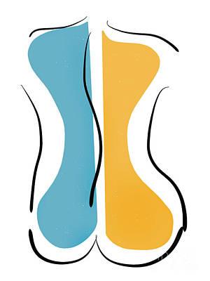Ipad Drawing - Curves by Linda Lees
