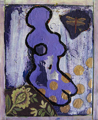 Painting - Curvism - Dragonflies On Lavender by Adam Kissel