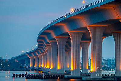 St. Lucie River Photograph - Curvy Bridge by Tom Claud