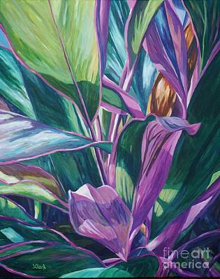 Luck Painting - Curvy Cordyline by John Clark