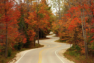 Roads Photograph - Curvy Fall by Adam Romanowicz