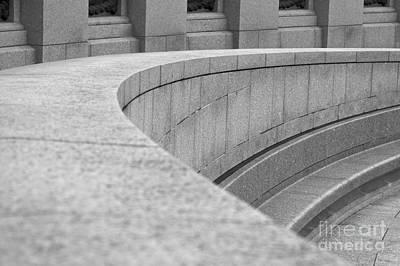 Stone Memorial Photograph - Curvy Slope by Hideaki Sakurai