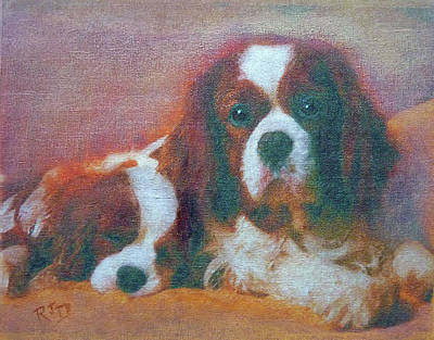Painting - Cushioned Love by Richard James Digance