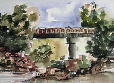 Painting - Custer County Bridge by Sam Sidders