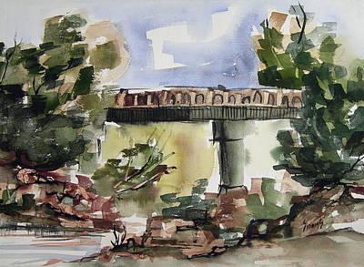 Painting - Custer County Bridge by Sam Sidders