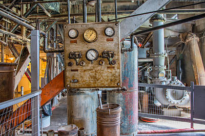 Industrial Age Photograph - Custer Dredge Interior by Leland D Howard