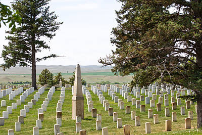 Photograph - Custer National Cemetery - Montana by Marie Jamieson