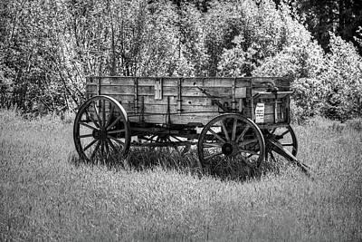 Photograph - Custer Wagon by Richard J Cassato