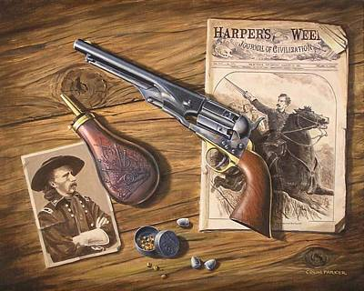 Painting - 'custer's Colt' by Colin Parker