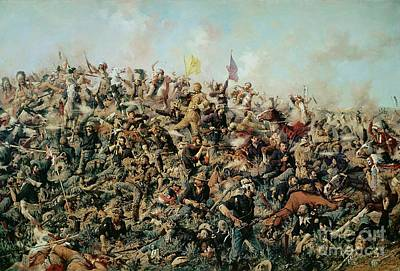 Fighting Painting - Custer's Last Stand by Edgar Samuel Paxson