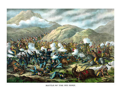 Custer's Last Stand Art Print by War Is Hell Store