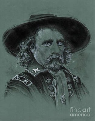 Drawing - Custer's Resolve by Scott and Dixie Wiley