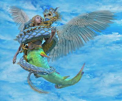 Dragon Fly Digital Art - Custom 06042017 by Betsy Knapp