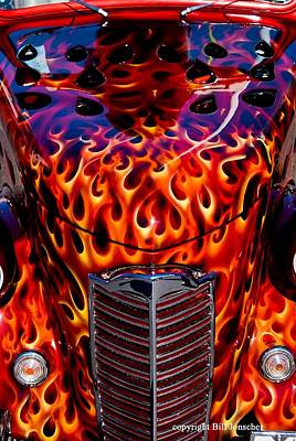 Photograph - Custom 1936 Ford. by Bill Jonscher