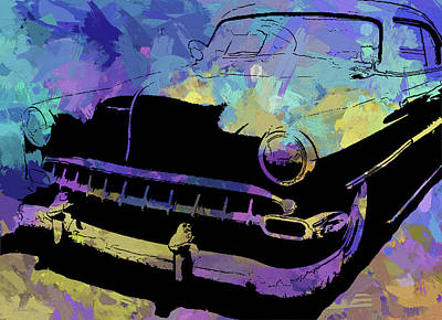 Digital Art - Custom 1954 Chevy Abs by David King