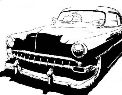 Digital Art - Custom 1954 Chevy Tee by David King