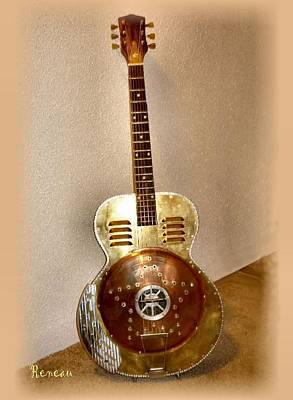 Photograph - Custom 30s-40s Harmony Archtop Guitar by Sadie Reneau