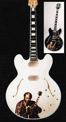Pyrography - Custom Anniverssary Gibson Guitar by Dino Muradian