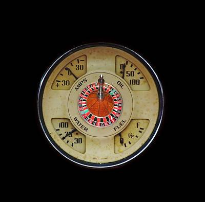 Photograph - Custom Automobile Instrument With Lucky Roulette Wheel Design  by Tom Conway
