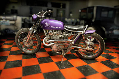 Photograph - Custom Bobber Motorcycle by YoPedro