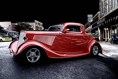 Photograph - Custom Car On Street by Brian Kinney