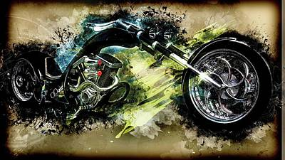 Digital Art - Custom Chopper Art by Louis Ferreira