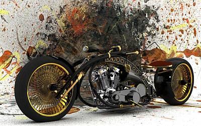 Photograph - Custom Chopper Gold by Louis Ferreira