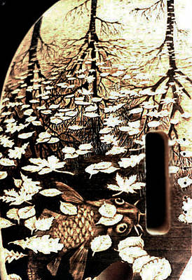 Esp Guitars Pyrography - Custom Fender Guitar - Detail by Dino Muradian