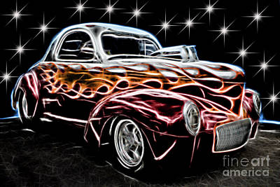 Photograph - Custom Flames by Steven Parker
