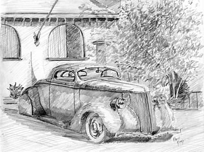 Drawing - Custom Ford Graphite by David King