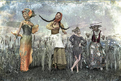 Surrealism Digital Art - Custom Generations Family Mac Carthaigh  by Betsy Knapp