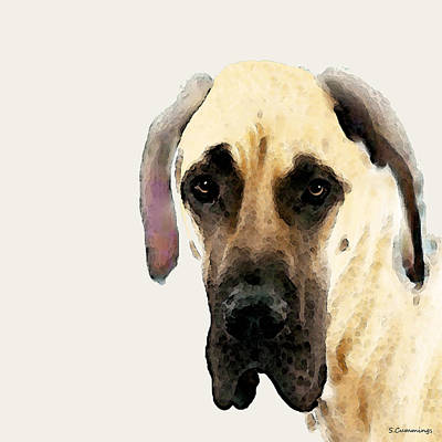 Custom Great Dane Art Art Print