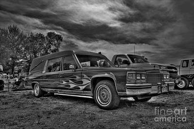Photograph - Custom Hearse by Tony Baca