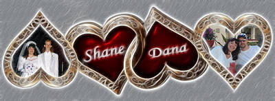 Photograph - Custom Hearts by Shane Bechler