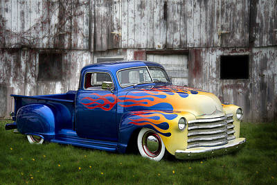 Photograph - Custom Hotrod Truck by Dick Pratt