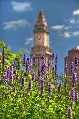 Photograph - Custom House Clocktower From The Rose Kennedy Greenway - Boston by Joann Vitali