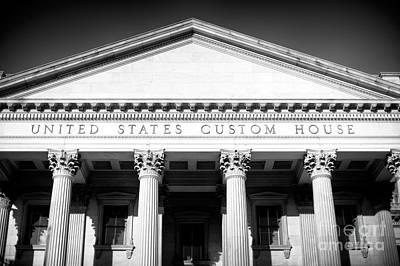 Photograph - Charleston Custom House Details by John Rizzuto
