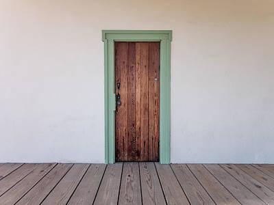Photograph - Custom House Door by Derek Dean