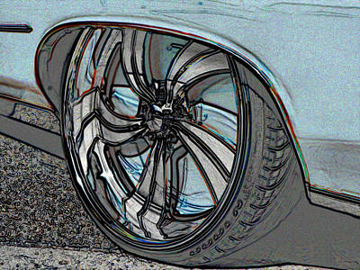 Photograph - Custom Le Sabre Wheel by Kathy K McClellan